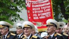 Шествие ветеранов в Севастополе 9 мая 2014 года