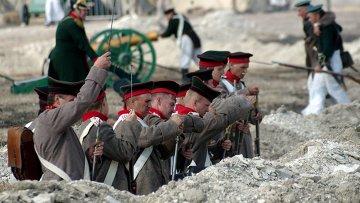 Участники реконструкции Крымской войны