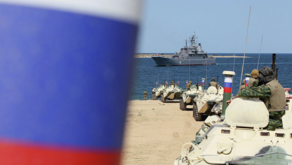 Черноморский флот РФ в бухте Севастополя