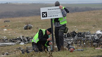 Голландские эксперты проводят работы на месте крушения малайзийского Boeing