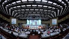На открытии осенней сессии Парламентской ассамблеи Организации по безопасности и сотрудничеству в Европе (ОБСЕ) в Женеве