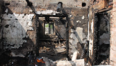 Последствия обстрелов Донецка