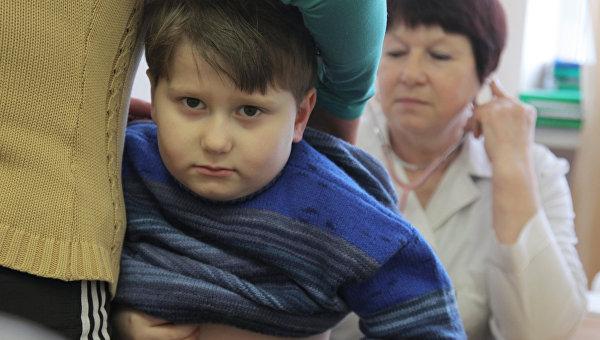 Врачи детской поликлиники. Архивное фото