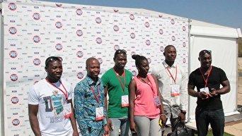 Koktebel Jazz Party. Пресс-конференция африканской этно-группы Afromania