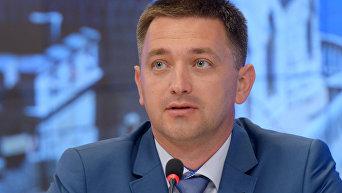 Министр курортов и туризма Краснодарского края Евгений Куделя в МИА Россия сегодня на мультимедийной пресс-конференции, посвященной текущей ситуации в туристической отрасли.