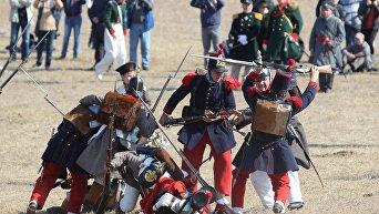 Реконструкция сражения в период Крымской войны