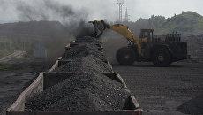 Погрузка угля в вагоны