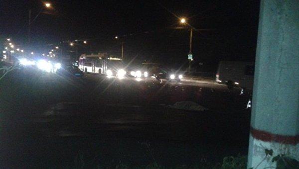 Под Симферополем на зебре джип насмерть сбил пешехода. Фото очевидца