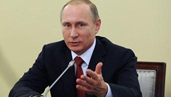 Рабочая поездка президента РФ В.Путина в Северо-Западный федеральный округ