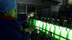 Закладка шампанского Крымский мост на заводе Новый Свет