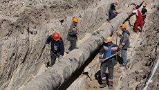 Прокладка газопровода. Архивное фото
