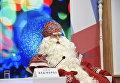 Главный Дед Мороз России, прибывший в Крым из Великого Устюга, на пресс-конференции в мультимедийном пресс-центре МИА Россия сегодня в Симферополе