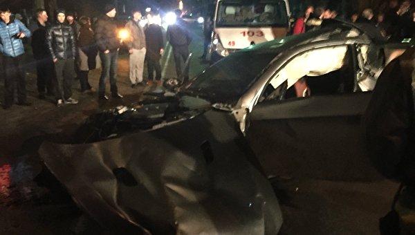 Авария в Симферополе на улице Киевской 12.01