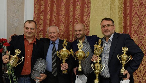 Бал чемпионов - 2015, Симферополь. На фото (слева направо): Артур Айвазян, Рустем Казаков, Сергей Доценко, Богдан Клименко