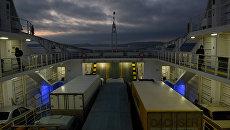Работа Керченской паромной переправы в ночное время