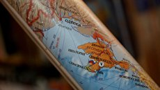 Карта, на которой Крым обозначен частью России