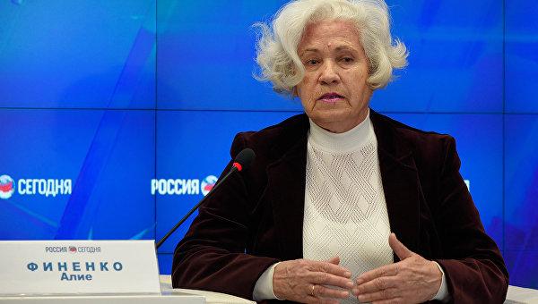 Председатель Комитета солдатских матерей Республики Крым Матери мира против войны на планете Алие Финенко