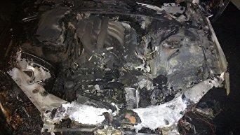 Сгоревший автомобиль. Большая Ялта