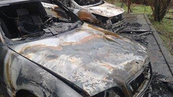 Сгоревшие автомобили. Большая Ялта