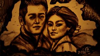Крымчанка Ксения Симонова создала песочный фильм для принца Бутана