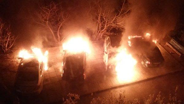 Поджог авто в Симеизе
