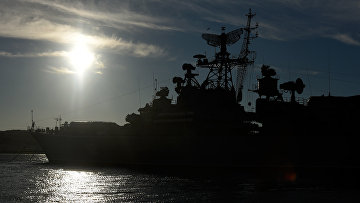 Боевые корабли Черноморского флота РФ в Севастополе