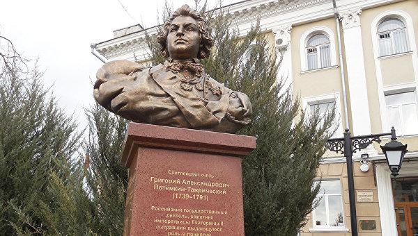 В Симферополе установили памятник князю Григорию Потемкину, открытие состоится 16 марта