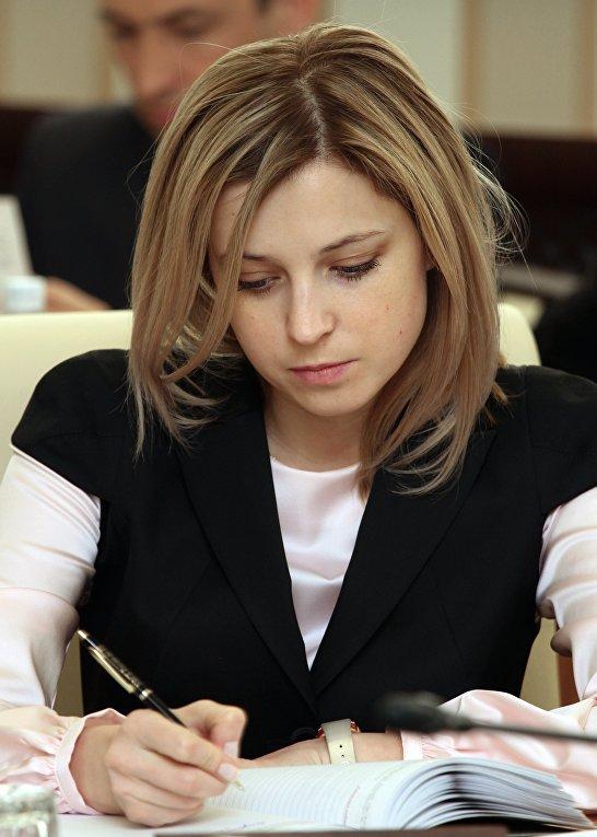 Прокурор Крыма Наталья Поклонская на заседании Совета министров Крыма в Симферополе