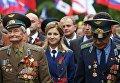 Прокурор Крыма Наталья Поклонская во время празднования Дня Победы в Симферополе