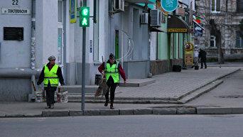 Уборка мусора в Симферополе