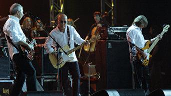 Музыканты рок-группы ВоскресениеАлексей Романов, Андрей Сапунов, Дмитрий Леонтьев. Архив