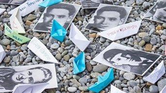 Акция Кораблики Победы в день 72-й годовщины освобождения МДЦ Артек от немецко-фашистских захватчиков.