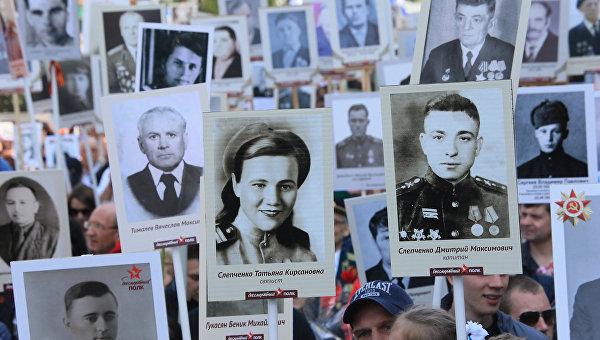 ВКиеве националисты напали научастников марша «Бессмертный полк»