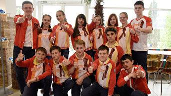 Акция Георгиевская ленточка  в международном детском центре Артек