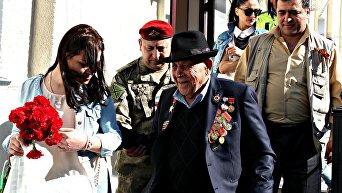 Ветераны Великой Отечественной войны прибыли из Армении в Севастополь для участия в параде Победы