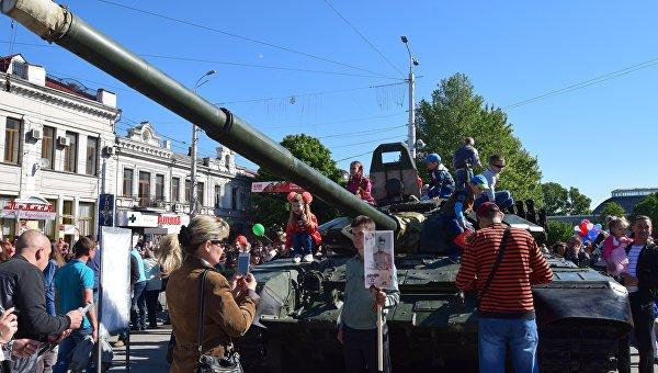 Празднование Дня Победы в Симферополе