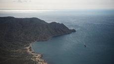 Вид на море и бухту Феодосии