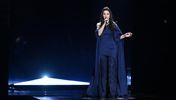 Певица Джамала во время финала песенного конкурса Евровидение-2016