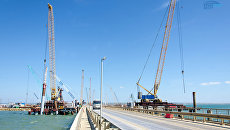 Сооружение опор Крымского моста