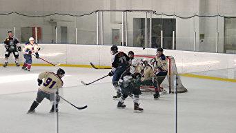 Хоккейная команда из Штутгарта Российские немцы – Ледяные волки проиграла товарищеский матч симферопольской Ладоге