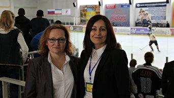 Члены немецкой делегации (слева направо): Мария Шнайдер и Татьяна Шершеф