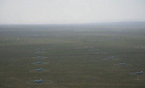 Авиадартс в Крыму: самолеты и мишени с высоты птичьего полета