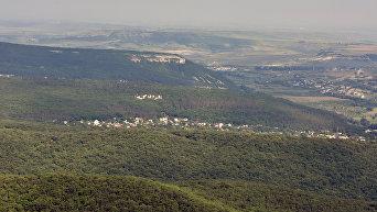 Крым с высоты птичьего полета. Бахчисарайский район
