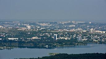 Крым с высоты птичьего полета. Симферопольское водохранилище