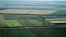 Крым с высоты птичьего полета. Авиация над полями