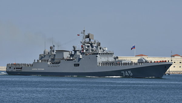 Фрегат «Адмирал Григорович» вышел вСредиземное море