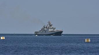 Новейший фрегат Адмирал Григорович прибыл на место своего постоянного базирования в Севастополь