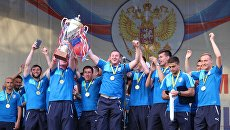 Торжественная церемония чествования ТСК Таврия - победителя премьер-лиги Крымского футбольного союза