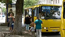 Пассажиры автобусов в Симферополе