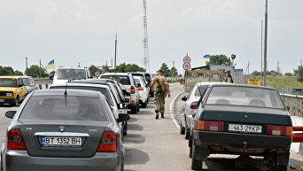 Украинский КПП Чонгар